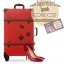 กระเป๋าเดินทางวินเทจ รุ่น retro brown แดงเข้มคาดน้ำตาล ขนาด 20 นิ้ว thumbnail 1