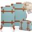 กระเป๋าเดินทางล้อลากวินเทจ รุ่น vintage retro สี Blue เซ็ตคู่ ขนาด 12+22 นิ้ว thumbnail 1