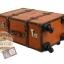 กระเป๋าเดินทางวินเทจ รุ่น vintage classic น้ำตาลส้มคาดน้ำตาล ขนาด 24 นิ้ว thumbnail 4