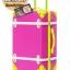 กระเป๋าเดินทางวินเทจ รุ่น colorful ชมพูคาดเขียว ขนาด 22 นิ้ว thumbnail 1