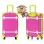 กระเป๋าเดินทางวินเทจ รุ่น colorful ชมพูคาดเขียว ขนาด 22 นิ้ว thumbnail 3