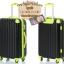 กระเป๋าเดินทางล้อลากไฟเบอร์ รุ่น colorful ดำขอบเขียว ขนาด 20/24/28 นิ้ว thumbnail 3