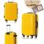 กระเป๋าเดินทางไฟเบอร์ รุ่น Aluminium เหลือง ขนาด 28 นิ้ว thumbnail 2