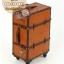 กระเป๋าเดินทางวินเทจ รุ่น vintage classic น้ำตาลส้มคาดน้ำตาล ขนาด 24 นิ้ว thumbnail 1