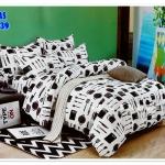 ผ้าปูที่นอนเกรด A ขนาด 5 ฟุต(5ชิ้น)[AS-239]