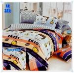 ผ้าปูที่นอนเกรด A ขนาด 5 ฟุต(5ชิ้น)[AS-252]