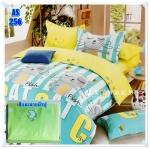 ผ้าปูที่นอนเกรด A ขนาด 5 ฟุต(5ชิ้น)[AS-256]