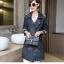 FW6008018 เสื้อแจ็กเก็ตยีนส์ตัวยาวคอปกแขนยาวแฟชั่นเกาหลี (พรีออเดอร์) thumbnail 2