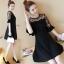 DW6008002 เดรสแฟชั่นสีดำแขนสั้นสาวเกาหลี คอกลม เรียบหรู (พรีออเดอร์) รอสินค้า 3 อาทิตย์หลังโอนเงิน thumbnail 1
