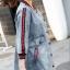 FW6008012 เสื้อแจ็กเก็ตยีนส์ตัวยาวคอกลมแขนยาวการ์ตูนเกาหลี (พรีออเดอร์) thumbnail 2