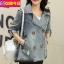 FW6008014 เสื้อแจ็กเก็ตยีนส์ผู้หญิงเกาหลีคอปกสูทตัวสั้นแขนยาว แฟชั่นเกาหลี (พรีออเดอร์) thumbnail 3