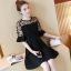 DW6008002 เดรสแฟชั่นสีดำแขนสั้นสาวเกาหลี คอกลม เรียบหรู (พรีออเดอร์) รอสินค้า 3 อาทิตย์หลังโอนเงิน thumbnail 2