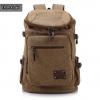 TR04-Khaki กระเป๋าเป้สะพายหลัง ผ้าแคนวาส สีกากี