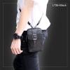 LT36-Black กระเป๋าร้อยเข็มขัด กระเป๋าคาดเข็มขัด หนัง PU สีดำ (มีสายสะพาย)