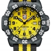 Luminox รุ่น LUMINOX 3955.set Scott Cassell Yellow Dial Carbon Reinforced Case Mens Watch