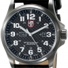 Luminox Men's A.1921 'Atacama' Carbon Fiber Dial Black Leather Strap Quartz Watch