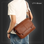 LT11-Brown กระเป๋าสะพายข้าง หนัง PU สีน้ำตาล