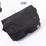 LT32-Black กระเป๋าสะพายข้าง หนัง PU สีดำ X-LARGE