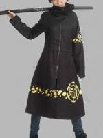 ชุดคอสเพลย์ชายแฟชั่น OnePiece Trafalgar Law ดีไซส์เสื้อคลุมเท่