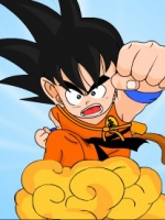 ชุดคอสเพลย์เด็กแฟชั่น Dragon Ball โงกุน สีส้ม เสื้อ+กางเกง