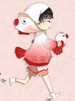 ชุดคอสเพลย์หญิงแฟชั่น Hoozuki no reitetsu Snapdragon น่ารักเก๋มาก