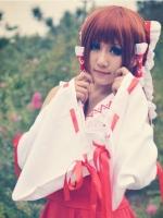 ชุดคอสเพลย์หญิงแฟชั่น Hakurei Reimu มิโกะแห่งศาลเจ้าฮาคุเรย์ <Touhou>