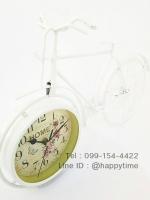 นาฬิกาตั้งโต๊ะเก๋ๆไม่เหมือนใคร ทรงจักรยานขาว