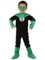 ชุดคอสเพลย์เด็กแฟชั่น ซูเปอร์ฮีโร่ Green Lantern สีเขียว/ดำ ดีไซส์เท่+หน้ากาก