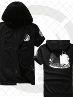 เสื้อแจ็กเก็ตคอสเพลย์แฟชั่น มีHood แขนสั้น สีดำ Danganronpa The Animation