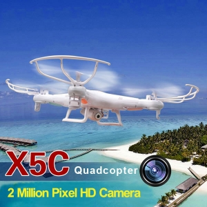SYMA X5C 2.4G 6 Axis Quadcopter HD CAM 2014 New Version - สีขาว