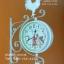 นาฬิกาแขวนผนังสไตล์วินเทจ Vintage รูปไก่กระดิ่งสีขาว ดูเวลาได้ 2 ด้าน - ทำจากเหล็ก thumbnail 1