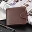 WS06-Black กระเป๋าสตางค์ใบสั้น แนวนอน กระเป๋าสตางค์ผู้ชาย หนัง PU เกรดเอ สีดำ thumbnail 9