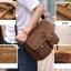 CV09-Brown กระเป๋าสะพายข้าง ผ้าแคนวาส สีน้ำตาล thumbnail 6
