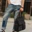 CV18-Black กระเป๋าถือผู้ชาย + สะพายข้าง ผ้าแคนวาส สีดำ thumbnail 5