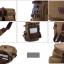 TR04-Khaki กระเป๋าเป้สะพายหลัง ผ้าแคนวาส สีกากี thumbnail 9