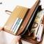 WL01-Dark กระเป๋าสตางค์ใบยาว กระเป๋าสตางค์ผู้ชาย หนัง PU สีน้ำตาลเข้ม thumbnail 6