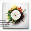 นาฬิกาสไตล์ร่วมสมัย Contemporary ภาพสีกระจาย - HT0006 thumbnail 1