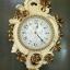 นาฬิกาแขวนติดผนัง ดีไซน์สวย สไตล์โรมันประดับดอกกุหลาบสีทอง thumbnail 1
