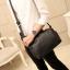 LT15 กระเป๋าสะพายข้าง หนัง PU สีดำ thumbnail 3