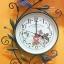 นาฬิกาติดผนังเก๋ๆ รูปช่อดอกไม้วินเทจ เดินเงียบ ไม่มีเสียง thumbnail 1