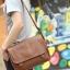 LT11-Brown กระเป๋าสะพายข้าง หนัง PU สีน้ำตาล thumbnail 2