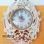 นาฬิกาแขวนผนัง Modern นกยูงคู่ประดับพลอย thumbnail 1
