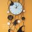 นาฬิกาติดผนังสวยๆ รูปปลาเทวดา เปลือกหอยกับม้าน้ำ thumbnail 1