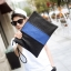 LT22 กระเป๋าถือ กระเป๋าคลัช ผู้ชาย A4 หนัง PU สีดำ thumbnail 2