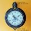 นาฬิกาแขวนติดผนัง 2 หน้า ทำจากไม้จริง ประดับด้วยคริสตัลสวยๆ thumbnail 1