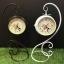 นาฬิกาตั้งโต๊ะวินเทจ สีขาว มีสองหน้าปัด (T081056) thumbnail 2