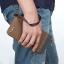 WL02-Brown กระเป๋าสตางค์ใบยาว กระเป๋าสตางค์ผู้ชาย ผ้าแคนวาส สีน้ำตาล thumbnail 9