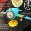 นาฬิกาตั้งโต๊ะเก๋ๆ รูปเครื่องบินโบราณสีฟ้าสองใบพัด thumbnail 4