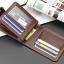 WS06-Black กระเป๋าสตางค์ใบสั้น แนวนอน กระเป๋าสตางค์ผู้ชาย หนัง PU เกรดเอ สีดำ thumbnail 2