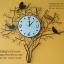 นาฬิกาติดผนังเก๋ๆ รูปกิ่งไม้รังนกดำ thumbnail 1